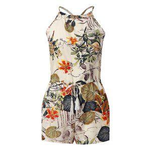 Floral Romper Shorts, NWT Boutique Medium